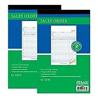 BAZIC 販売注文帳 50セット 5 9/16インチ x 8 7/16インチ 2パーツカーボンレス ホワイト&カナリア 巻き付けカバー (50セット/パック) 2パック