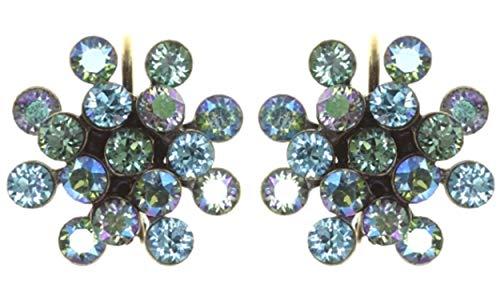 Ohrhänger Magic Fireball Mini | KONPLOTT - Designer-Mode-Schmuck mit Swarovski Elements | Ohrringe mit Glitzer-Steinen | Ohrschmuck für Mädchen und Damen in Grün-Türkis