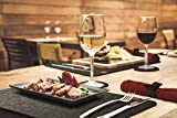 TULENO® Edles Tischset Filz mit Serviettenringe, Platzset abwischbar als Tischuntersetzer oder Tischunterlage, Platzdeckchen abwaschbar rutschfest, Platzsets abwaschbar Tischset abwaschbar ANTHRAZIT - 7