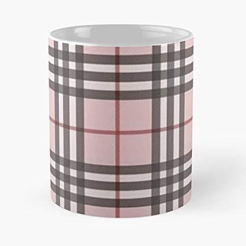 Lines Love Black Tiktok Trend Red Patterns Trends Pink Best Taza de café de cerámica de 325 ml