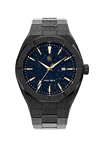 Paul Rich Frosted Star Dust - Reloj automático (42 mm, acero inoxidable), negro,