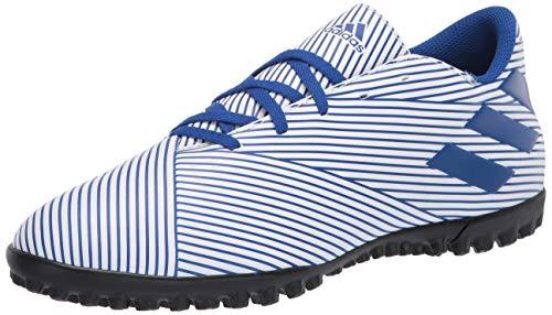 adidas Men's Nemeziz 19.4 Turf Boots Soccer Shoe, FTWR White/Team Royal Blue/core Black, 8 M US