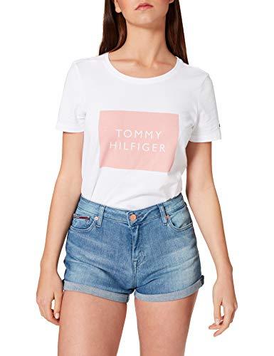 Tommy Jeans Damen MR Denim TMBS Jeans-Shorts, Tess Mb STR, NI29