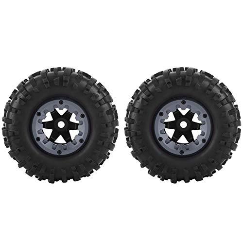 Alta durabilidad Alta robustez mano de obra exquisita 1/10 RC Bigfoot Camión Neumático de goma Rueda Neumático ZD Racing Buggy Crawler Car para niños Juguetes para niños Regalo(Dark dark gray)