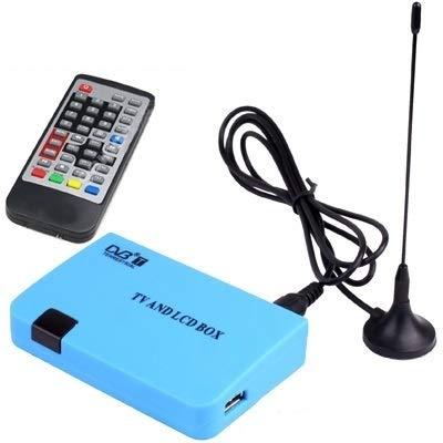 Leluckly1 Cable Compacto y Ligero Stand-Alone Receptor DVB-T TV/LCD BoxSimple y práctico (Azul)