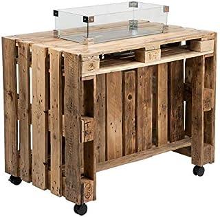 Schroth Home PALfire Table de feu – Brasero à gaz d'extérieur – Table de jardin avec four – Table avec foyer – Parfait pou...