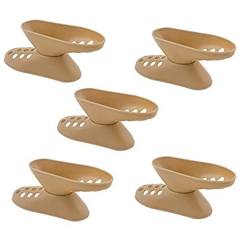 COLiJOL Organizer per Scarpiera Organizer per Slot per Scarpe da 5 Pezzi, Supporto per Scarpe Saaspazio per Sneaker e Tacchi Alti Assemblaggio Rapido a 2 Colori (Colore: Marrone, Dimensioni: 14 * 5Cm