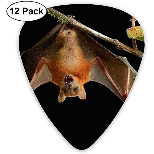 Fledermaus-Plektren 12 Ukulelen-Plektren, einschließlich 0,46 mm, 0,71 mm, 0,96 mm Akustikgitarre