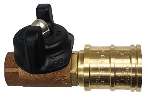 M.B. Sturgis Inc. 1/2' Ball Valve Quick Disconnect (Natural or LP Gas)