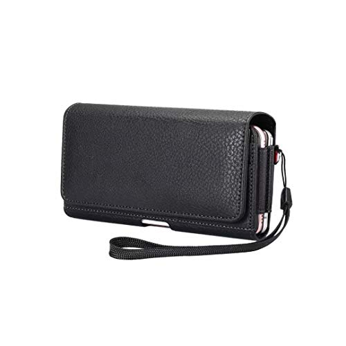 Aopan Doble Capa Funda de Cuero Cinturón Piel Bolsa y Cierre Magnético para iPhone 11/12 Pro MAX, Samsung Galaxy S20 FE M31 M51 A21s A51 A71 A52 A72, Xiaomi Poco X3 NFC