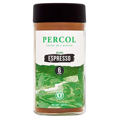 PERCOL Espresso Noir Instant Coffee Full-Flavoured Taste & Silky Crema Finish ? Dark, Intense Robusta Blend 100g