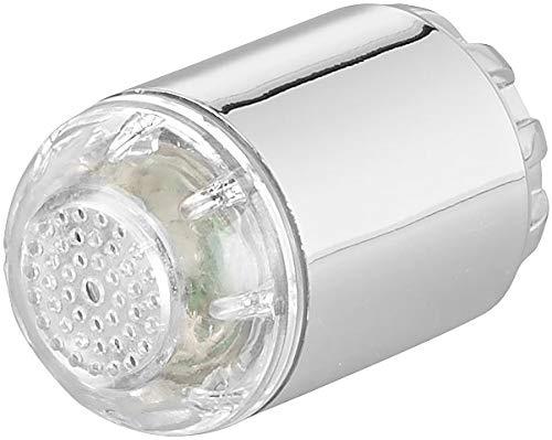 infactory LED Wasserhahn: Dynamo-LED-Wasserhahnaufsatz zur Temperaturkontrolle, leuchtet farbig (Wasserhahn Aufsätze)