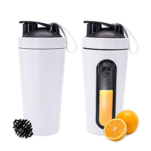 Haplws Portable Protein Shaker Cup 304 Stainless Steel Water Bottle Gym Sports Fitness Training Drink Powder Milk Mixer 700ml