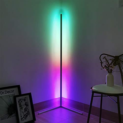 JAKROO Eck-Stehleuchte, LED Dimmbare Stehlampe mit RGB Farbwechsler und Fernbedienung, Moderner minimalistischer Stil, Ambient Ecklichter für Wohnzimmer, Schlafzimmer, Spielzimmer