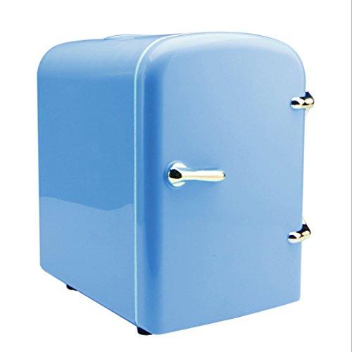 Q-HL Auto Elektrische Kühlschrank Kühlbox, 4L Auto Kühlschrank, tragbare Mini-Kühlschrank, AC und DC Hotspot-System, Thermostat, Medikamentenlager, Kosmetik-Kühlschrank (Color : Blue)
