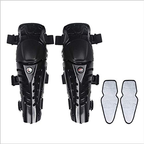 Yughb Motocicleta patinaje rodilleras transpirables adulto ajustable de fibra de aramida motocrós MTB Espinilleras for montar a caballo Ciclismo patinaje de lesiones evitar que el sudor elástico de se