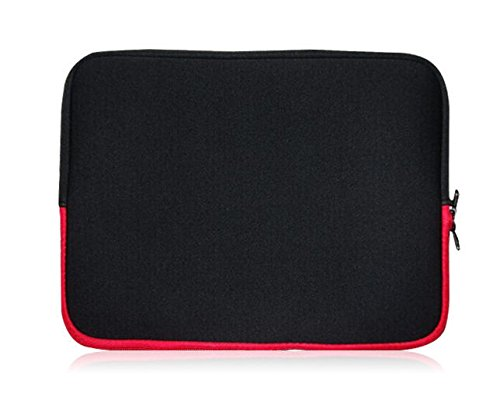 Sweet Tech Black/Red Neoprene Case Cover Sleeve Suitable for Polaroid 11.6 Inch HD Tablet with Detachable Keyboard (11.6-12.5 inch Laptop)