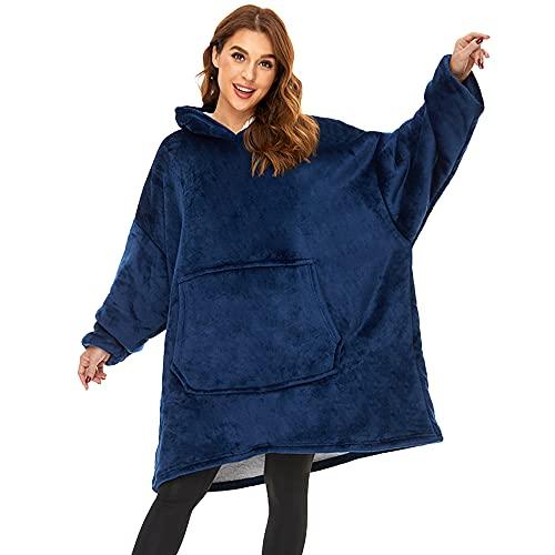 Lushforest Hoodie Sweatshirt, Damen Kapuzenpullover, Riesen-Sweatshirt, Super weich und bequem, Geeignet für Erwachsene, Männer, Frauen, Jugendliche (Blau)