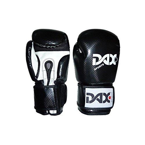 DAX Boxhandschuhe Onyx TT Kunstleder Schwarz Weiss