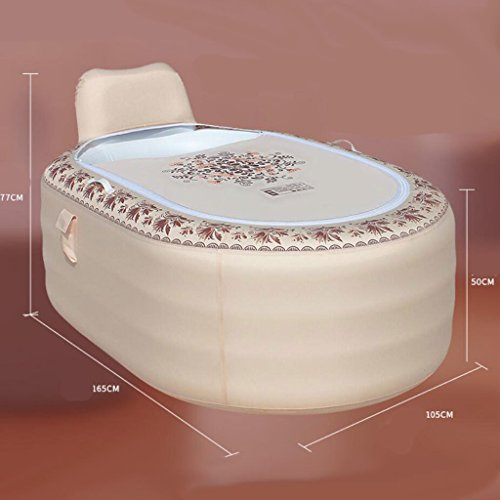 Grau home aufblasbare Wanne erwachsene faltende Kunststoff Badewanne Waschbecken erwachsene Bad Fass Romantik Komfort Luxus (165 * 105 * 77 cm)