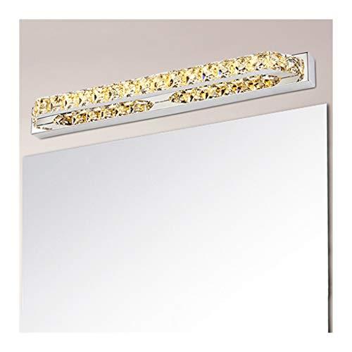 WYZ. LED-kristallen spiegel-front lamp mode eenvoudige badkamer wc spiegel lamp schilderij front verlichting [energieklasse A +] (Color : B-Warm Light)