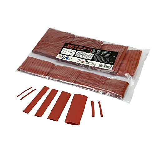 Preisvergleich Produktbild ISO-PROFI® 357-tlg Magnum Schrumpfschlauch Sortiment Set Beutel Rot 2:1
