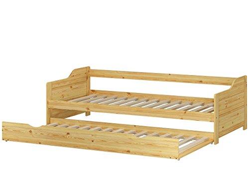 Erst-Holz Letto-Divano Letto 90x200 in Pino con cassettone Letto e doghe rigide 60.34-09