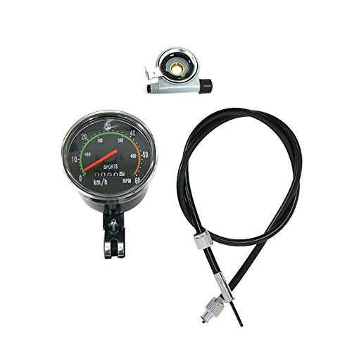 sthus Speedometer & Odometer w/Mounting Hardware for 80cc Motorized Bicycle Motor