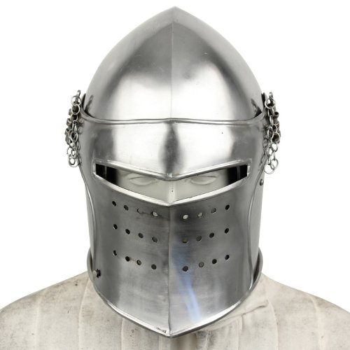 Mittelalter Renaissance Abnehmbare Visier Barbuta 16Sprache funktionelle Helm Armor