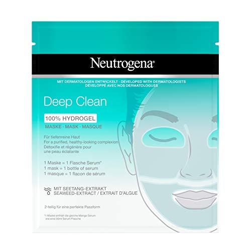 Neutrogena Skin Detox Hydrogel Maske - Hydrogel Maske mit Seetang Extrakt für tiefenreine Haut - 1 x 30ml
