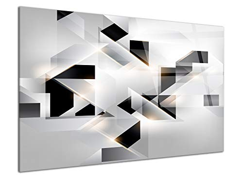 DECLINA - Cuadro plexiglás, impresión sobre Cristal acrílico, Marco de Fotos plexiglás, Tablero plexiglás Abstracto Origami, 50 x 30 cm