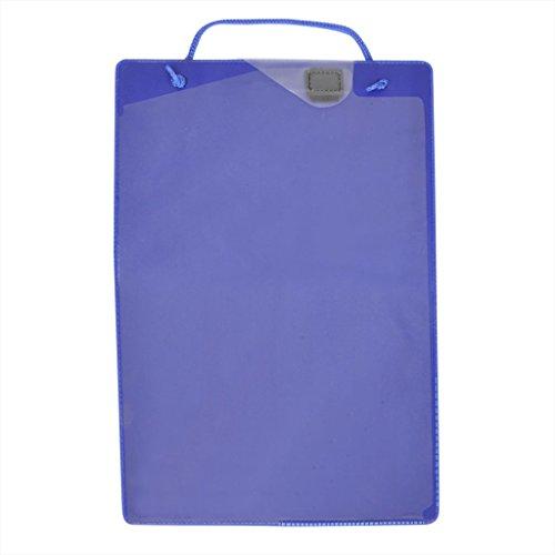 ProPlus 580042 10 x Werkstatt Auftragsmappe Auftragstasche DIN A4 Werkstatttasche Farbe Blau mit Schlüsseltasche