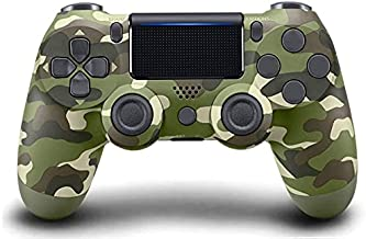 Controller for PS4 Wireless Playstation 4 Controller with Dual Vibration/Speaker/Gyro/Audio Jack Remote Controller Gamepad for PS5/Slim/Pro/(Camouflage Green)