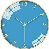 JJDSN Reloj de Pared Simple, Reloj de Pared de Colores para Colgar en la Pared, Reloj de Pared de Arte para el hogar, Reloj de Pared silencioso de Moda, Reloj de Dibujos Animados para Estudiantes,