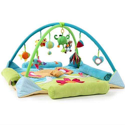 2019 Playmet Baby Toy Extended Couverture de Jeu pour bébé Couverture Couverture de Chambre d'enfant 100% Coton ancrée dans la Science - Playtime éducatif w/a Purpose,Blue