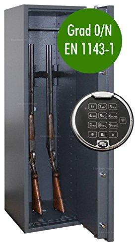 Waffenschrank Grad 0 EN 1143-1 mit Zahlenschloss Gun-Safe 0-5