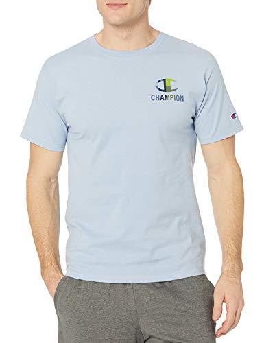 Champion Classic Graphic tee Camiseta, Mache Blue - C Pecho Izquierdo, S para Hombre