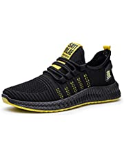 Gymschoenen voor heren,Comfortabele, ademende casual hardloopschoenen voor heren van mesh-yellow_43,joggingschoenen