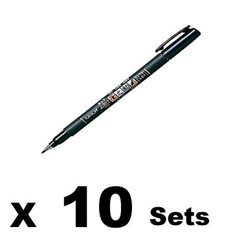 Tombow Fude Brush Pen, Fudenosuke, Soft (GCD-112)×10 sets