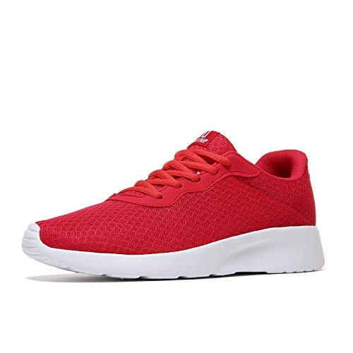 MAIITRIP Men's Running Shoes Sport Athletic Sneakers,Red/White,Size 11