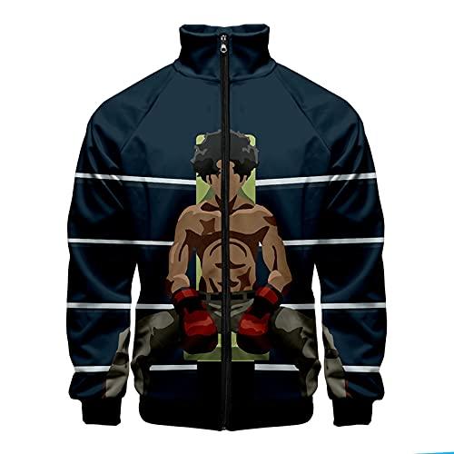 CCEE Megalo Box Anime Mode Sweatshirt Männer Frauen T-Shirts Casual Sport T-Shirt Rundhals Kurzarm T-Shirt Top Plus Größe
