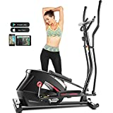 Eliptical Exercise Machine,Elliptical Cross Trainer for Home Use,Heavy-Duty Gym Equipment for Indoor Workout & Fitness with 10-Level Resistance&Max User Weight:390lbs (Black)