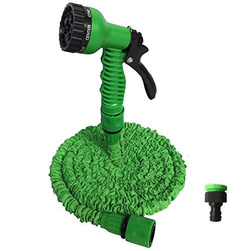 ZDYLM-Y Flexibler Gartenschlauch Haushalt Kunststoff Autowaschschlauch, Teleskop-Wasserleitung, 7 Arten von Wasserblumen,150FT(45m)