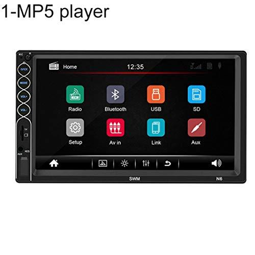 YSHTAN - Reproductor MP5 para coche con sistema inteligente MP5 Player N6, pantalla táctil de 7 pulgadas, radio 2 Din, Bluetooth, reproductor de vídeo MP5 con cámara – 1