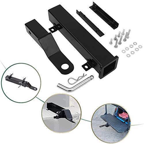 NIXFACE Universal Golf Cart Trailer Hitch for Backseat Footrest 2″ Receiver