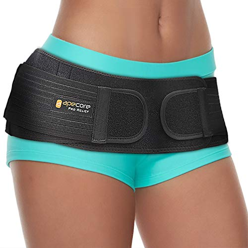 Sacroiliac Si Hip Belt by Apecore  PRO Relief for Sciatica, Pelvic, Lower Back, Lumbar and Leg Pain. Si Joint Support for Women and Men. Anti-Slip Sciatic Nerve Brace