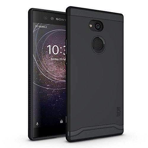 TUDIA Sony Xperia XA2 Ultra Hülle, Slim-Fit Merge Dual Layer Schutzhülle für Sony Xperia XA2 Ultra (Matte Black)