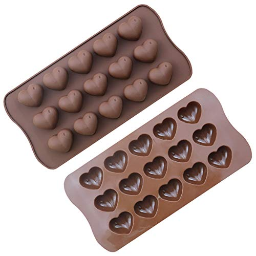 Silicone Chocolate Mould Silicone Mould Chocolate Bar Sweet Mould Candy Mould Jelly Mould 15 Cavity Heart Shaped Baking Tray