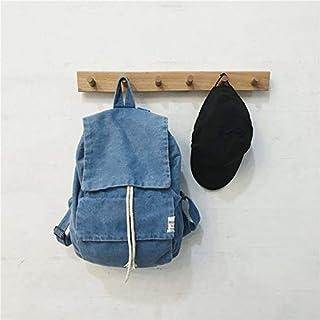 Mjkl Mochila de Tela Vaquera Azul para Mujer, Estilo Unisex, Mochila de Viaje para Mujer, Mochila Escolar de Gran Capacidad para Mujer, Azul Claro, 28 cm 17 cm 39 cm