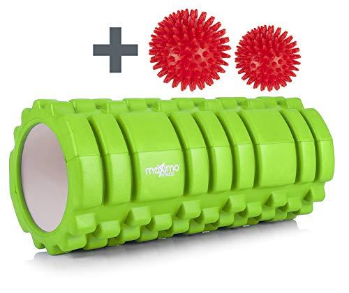 Maximo Fitness Rodillo DE Espuma Foam Roller - Trigger Point Gimnasio o Ejercicios en casa - 14cm x 33cm. (Green)